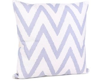 White Lavender Zig Zag Cushion x 2