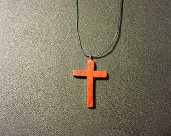 Padauk Wood Cross Necklace
