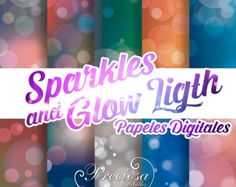 Papers digital Sparkles and Glow light