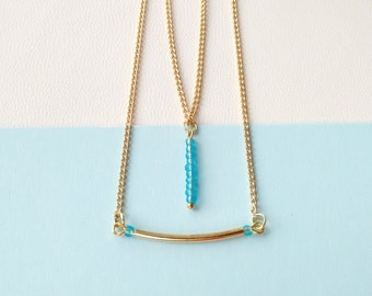 GOLD LAYERED NECKLACE / 11 /