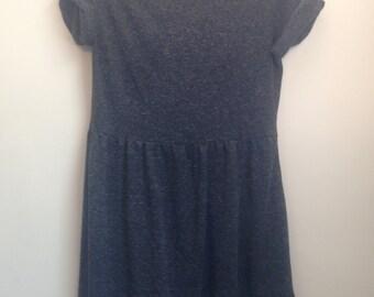 Grey Speckle T shirt Dress