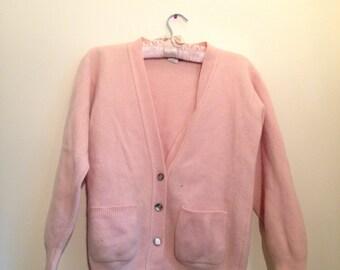 Baby pink wool cardigan