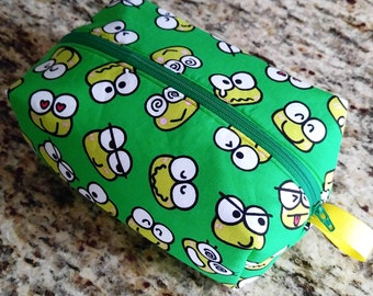 Green Keroppi Zippered Pouch Bag