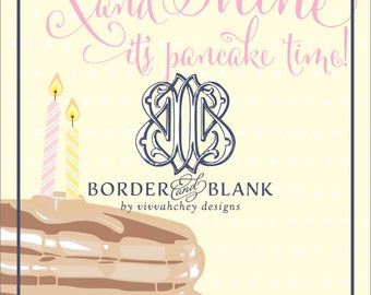 Pretty Pancakes | Girl Birthday Invitation