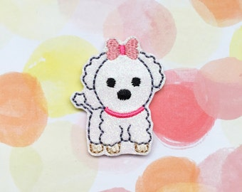 Felties, Poodle Puppy Felties, Dog Felties, Animal Felties, Glitter Felties, Vinyl Felties