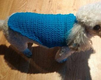 Crocheted dog sweater