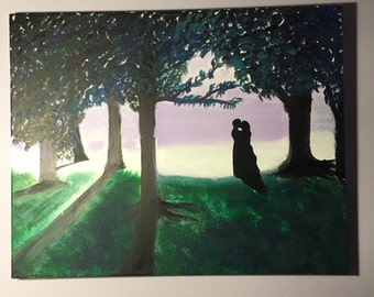 Enchanted Lovers painting