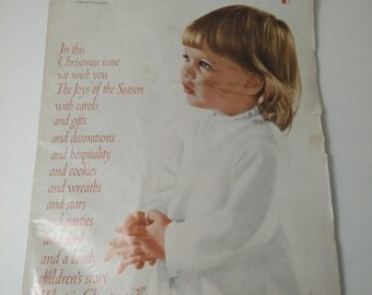 VIntage Woman's Day Magazine December 1960 Christmas