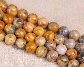 Natural Crazy Agate, Natural Stone Beads, Crazy Agate Beads, Round Beads, Semi Precious, Gemstone Beads, Agate, 4 6 8 10 12 mm, (AB016)