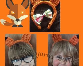 Girls fox headband