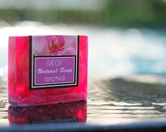 Orchid Soap - Handmade Soap, Glycerin Soap, Handcrafted Soap, Natural Soap