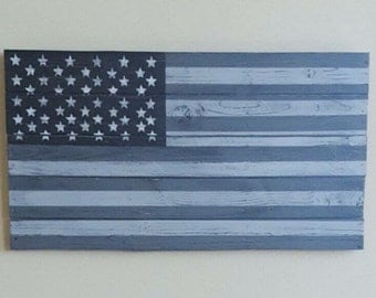 Gray and Black subdued American Flag