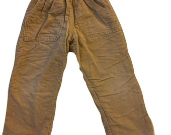 Toddler pants, lined, 3T, tan corduroy