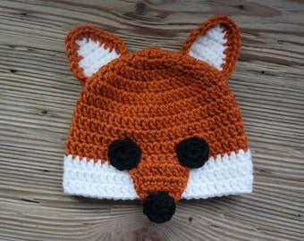 Crochet Fox Baby Hat