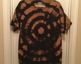 Reverse Tie Dye T-shirt with Bullseye Design