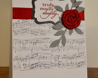 Truly, Madly, Deeply Note Card