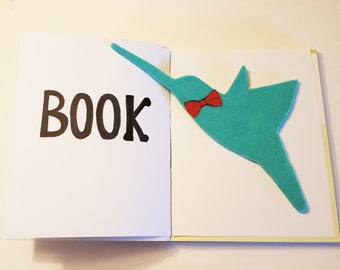 "Hummingbird Bookmark 11' X 3"" Bird Bookmark,Unique Bookmark,Bookmark,Book Lovers Bookmark,Custom Bookmark,Reader Gift,Handmade Bookmark,Gift"