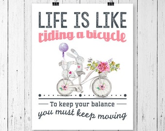 """Riding a Bike Printable Wall Art 8""""x10""""- INSTANT DOWNLOAD"""