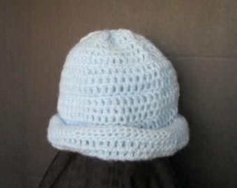 Crochet Hat Light Blue Hat
