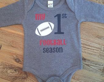 My First Football Season, Football Bodysuit, 1st Football Season, Baby Boy Outfit, Newborn Outfit, Football Outfit