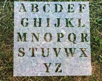 Upper Case Alphabet | Reusable Stencils | Custom Stencil | Custom Stencils | Ready to use | Get Ready to Paint! |