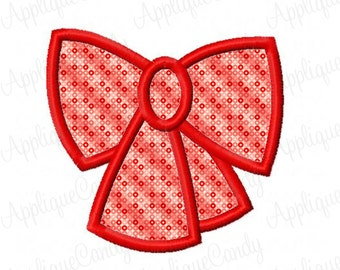 Bow Applique Machine Embroidery Design 2x2 3x3 4x4 5x7 6x10 INSTANT DOWNLOAD