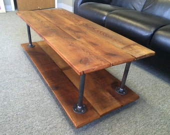Reclaimed Wood Two Layer Coffee Table