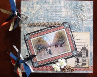Travel - Graphic 45 Citiscapes - Chipboard 6X6 Premade Album