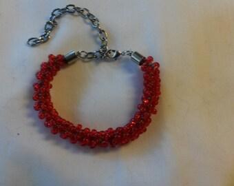 Petite Scarlet and Grey Bracelet