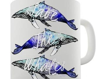 Save The Whales Humpback Whale Ceramic Tea Mug