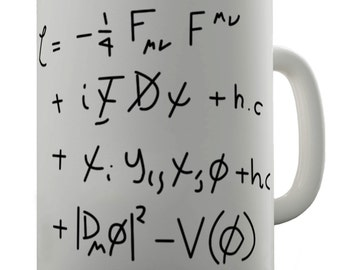 Standard Model Math Equation Ceramic Novelty Mug