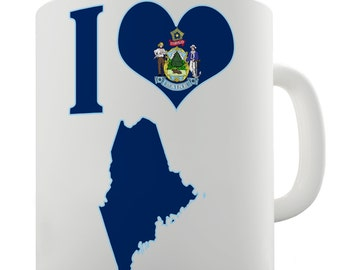 I Love Maine Ceramic Mug