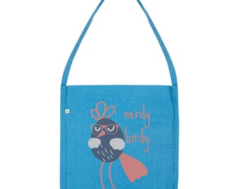 Funny Nerdy Birdy Tote Bag