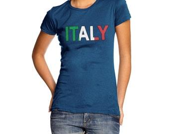Women's Italy Flag Football T-Shirt
