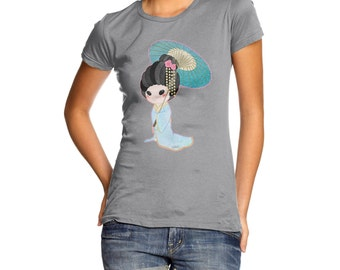 Women's Hanako Blue T-Shirt