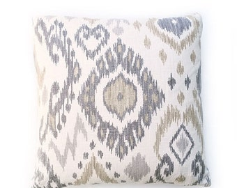 Sale Stone Ikat Pillow Cover