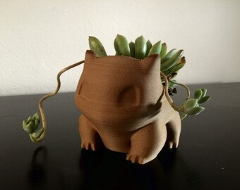 Extra Large Bulbasaur Planter Pokemon 3D Printed