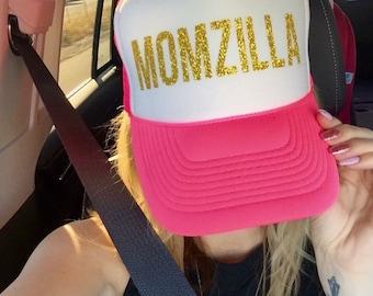MOMZILLA Trucker| MOM Trucker| MOM hat| Trucker Hat