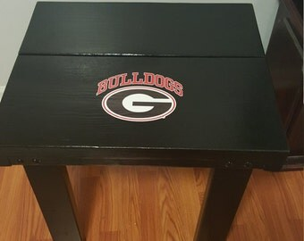 Hand made wood end table