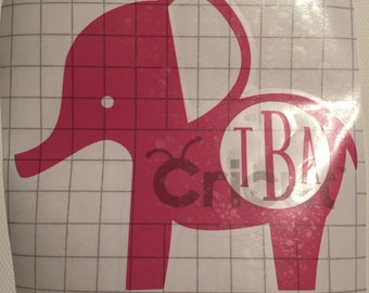 Elephant with Initials