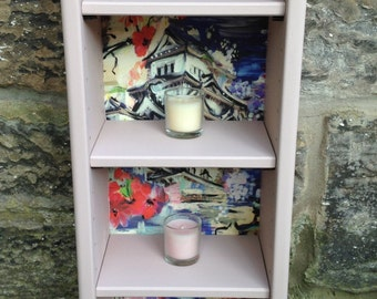 Upcycled 'Noisette' CD/DVD Small Shelf Unit