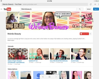 Youtube Banner/Profile Picture/Thumbnails