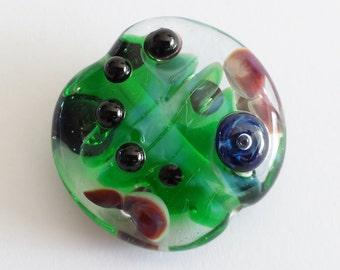 Lampwork Emerald Focal Bead