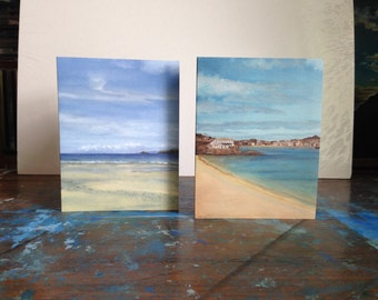 Beautiful notecards of paintings by Cornish artist Amanda Williams. St Ives.