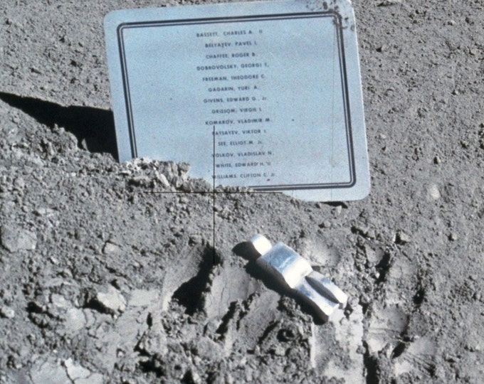 "Plaque & ""Fallen Astronaut"" Left on the Moon During the Apollo 15 Mission - 5X7 or 8X10 NASA Photo (AA-934)"