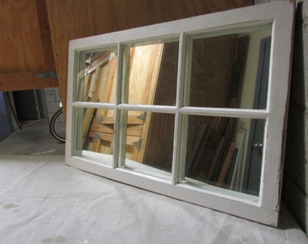 Rustic Window Mirror