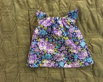 Newborn dress with flutter sleeves