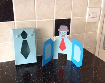 Dad card with matching tie gift box