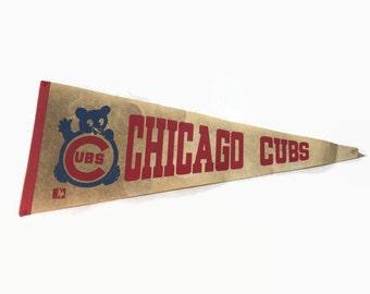 Chicago Cubs Vintage Baseball Pennant