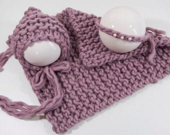 Blanket mini blanket bonnet hair band from Peruvian wool Mallow